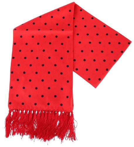 Knightsbridge Neckwear / Écharpe à pois noir Aviator soie rouge de