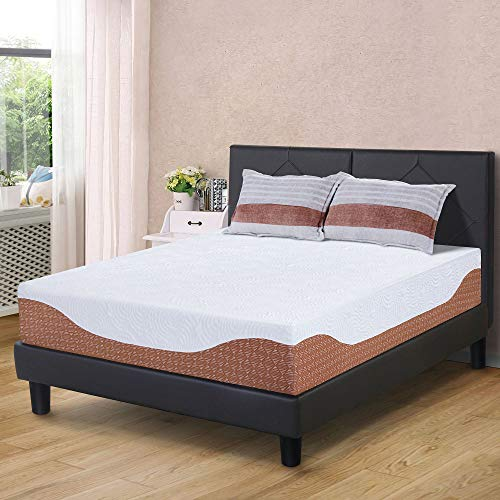 PrimaSleep 12 Inch Multi-Layered I-Gel Infused Memory Foam Mattress, King