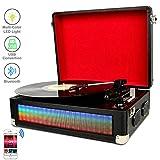 DIGITNOW Tocadiscos Bluetooth LED Multicolor para Vinly con Altavoces Estéreo Duales, Luces LED...