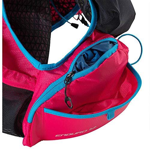 DYNAFIT Enduro 12 Backpack Colorblock-Pink-Schwarz, Laufrucksack, Größe S - Farbe Fluo Pink - Methyl Blue