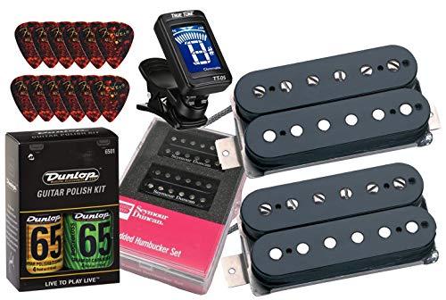 Seymour Duncan 11108-13-B Hot Rodded Humbucker Matched Guitar Pickup Set with True Tune Tuner, Care Kit, Picks