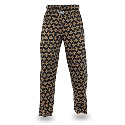 Zubaz NFL New Orleans Saints Men's Team Logo Print Comfy Jersey Pants, Medium, Black