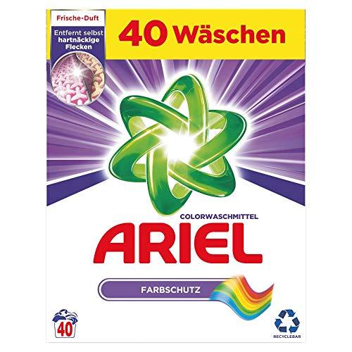 Ariel Waschmittel Pulver, Waschpulver, Vollwaschmittel, Color Waschmittel, Farbschutz, 40 Waschladungen (2.6 kg)