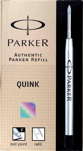 Parker Standard Recharge pour stylo à bille pointe fine Noir Lot de 12