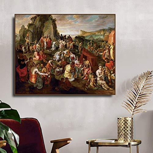 Gillis Mosta's Amazing Water Canvas Painting Cartel de caligrafa Sala de estar Printmaking Imagen de la pared del dormitorio Arte decorativo para el hogar Pintura decorativa sin marco P11 30x40cm