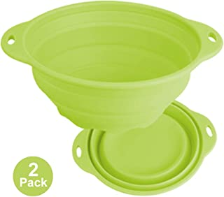 Jovilife 2Pack Collapsible Bowl Silicone Bowl Mixing Bowl,Expandable Storage Bowl - Collapsible Bowl Set(9 Cups/71oz) (Green)