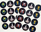 Retro Arcade Sticker, Galactic Fighter - 24 Pack