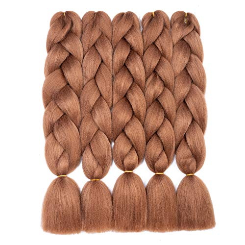 Braiding Hair Synthetic Kanekalon Fiber Braiding Hair Ombre Jumbo Braids Hair Extensions(5PCS,24 Inch 30#)