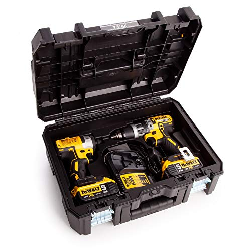 Dewalt DWST1-70703 TStak II Power Tool Storage Box T-STAK + Drill + Impact Inlay