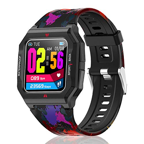 """HopoFit Smartwatch, Orologio Fitness Tracker con Cardiofrequenzimetro da Polso, Contapassi, Notifiche Messaggi, 1.3"""" Touch Bluetooth Smart Watch Bambini Donna Uomo per iOS Android Smartphone"""