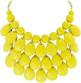 Fashion Floating Bubble Necklace Teardrop Bib Collar Statement Jewelry for Women