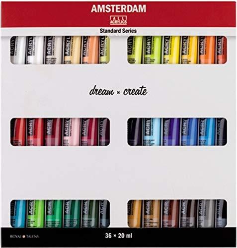 Talens AMSTERDAM Acrylfarben-Set Dream 36 x 20 ml Acryl Malfarbe Farbe