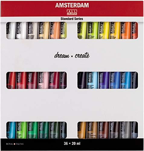 Talens AMSTERDAM Acrylfarben-Set Dream 36 x 20 ml Acryl Malfarbe Farbe