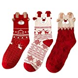 Valleycomfy 3 Pairs Femmes Chaussettes Chaussettes...