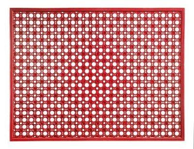 Bavaria Home Style Collection – Paillasson d'extérieur double face | 48 x 62 cm | Couleur : rouge