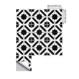 inmozata 10 pezzi adesivi per piastrelle 15×15/20×20cm, adesivi in pvc decorazioni stile marocchino, impermeable adesivi pavimento per bagno cucina parete fai da te