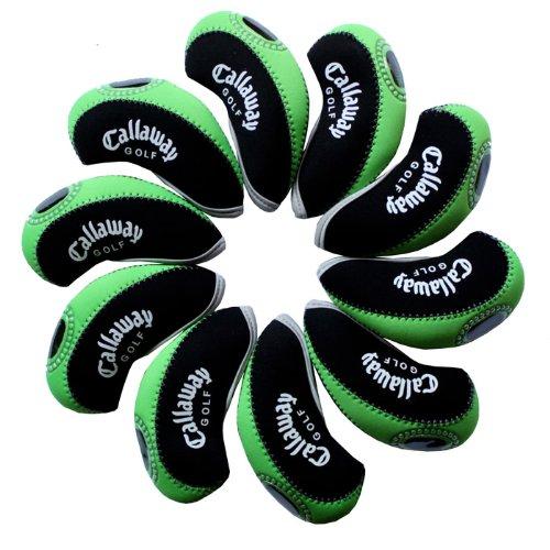 Callaway golf Schlägerkopfhüllen Golf Eisen deckt Eisenhauben 10pcs/set MT/C07 schwarz/grün