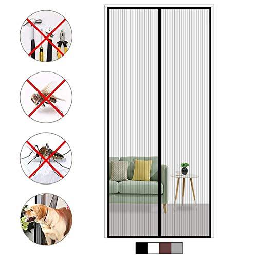 Aibingbao Magnet Fliegengitter Tür 80x215cm(31x85inch) Insektenschutz Fliegenvorhang Klebemontage Magnetverschluss für Balkontüren Terrassentüren, Schwarz A