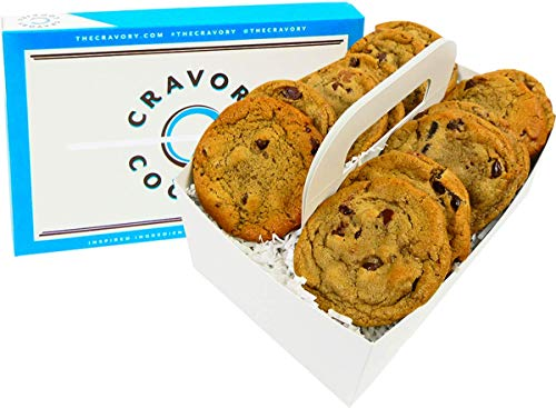 The Cravory: Chocolate Chip Cookies - 12 cookies, 2.0 oz. each - Individually Wrapped - Gourmet - Baked Fresh - Dessert, Snack or Baked Goods