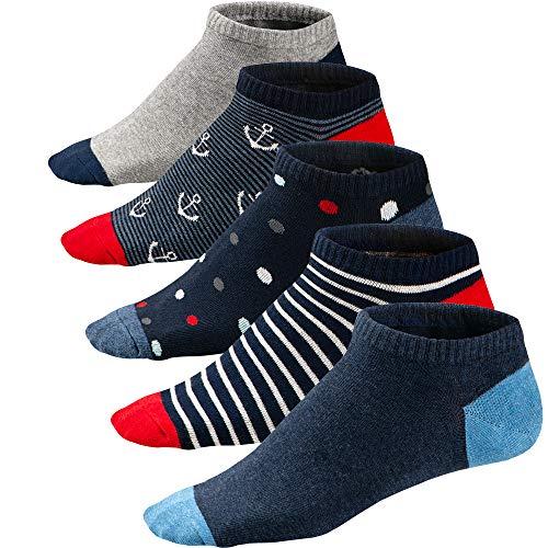 Ueither Calcetines Estampados Hombre Casuales Divertidos Calcetines Corto de Colores con Algodón Fino (39-46, Color 3)