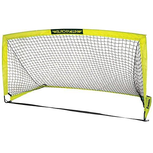 "Franklin Sports Blackhawk Portable Soccer Goal - Pop-Up Soccer Goal and Net - Indoor or Outdoor Soccer Goal - Goal Folds For Storage - 9' x 5'6"" Soccer Goal"