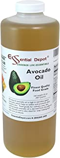 Avocado Oil - 1 Quart - 32 oz - Food Grade - safety sealed HDPE container with resealable cap