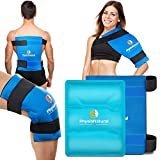 Large Flexible Gel Ice Pack & Wrap - Cold Therapy for Your Hips, Shoulders, Elbow, Back, Knees – Instant Pain Relief for Injuries, Recovery, Swelling, Aches, Bruises & Sprains – XL 11'x14'