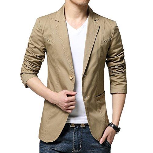 (チーアン) Tiann メンズ ジャケット スーツ 生地 カジュアル コート ビジネス ジャケット テーラードジャ...