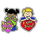 Carson Dellosa   I Love Jesus Christian Stickers   1.5-inch x 1.5-inch, 90ct