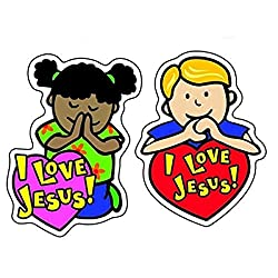 I Love Jesus Shape Stickers