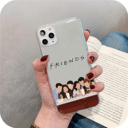 Central Perk Friends - Carcasa transparente para iPhone X Xr Xs Max para iPhone 11 12 Mini Pro Max 6S 7 8 Plus Se 2020 Soft Cases-Kl94-Style2-Para iPhone 7