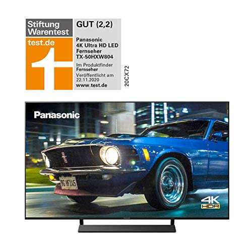 Panasonic TX-50HXW804 UHD 4K Fernseher (LED TV 50 Zoll / 126 cm, HDR, Quattro Tuner, Smart TV, Alexa, USB Recording) [Energieklasse A+]