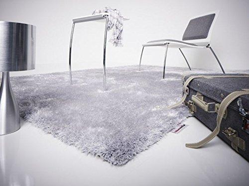 Designer Hochflor Shaggy Lars Contzen colourcourage Concrete Silber