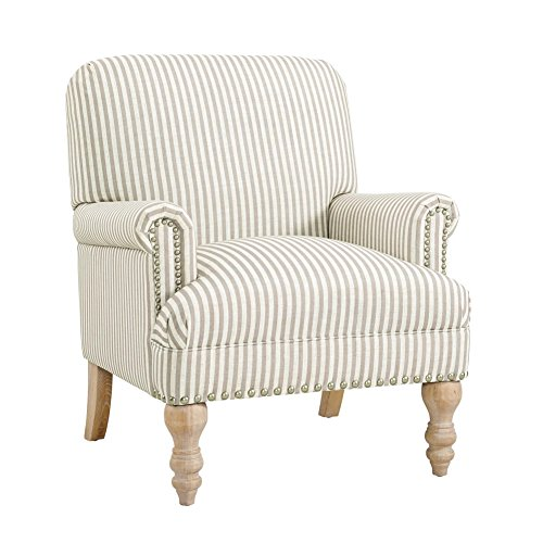 arm chairs FlexLiving Striped Accent Chair, Living Room Armchairs and Home Office Desk Chairs, Beige Stripe