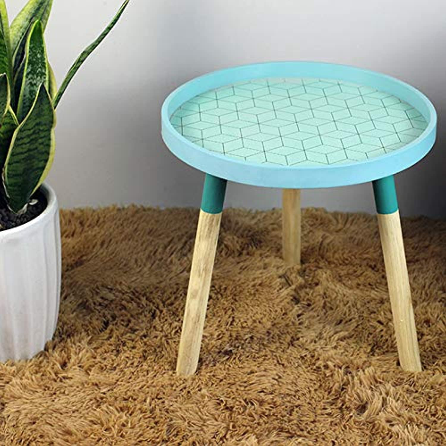 Nordic Small Fresh Mini Coffee Tables Creative Wood Low Table Round Tables Living Room Furniture Home Furniture Home Decorations,A