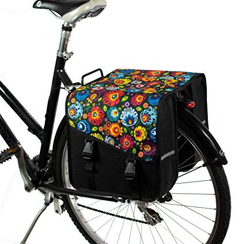 BikyBag Classico S - Borse Doppio Portapacchi Fashion Bicycle Cycle Bike da Donna - Uomo (Arte Popolare)