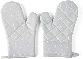 1 Pair Microwave Glove BBQ Oven Baking Hot Pot Mitts Cooking Heat Resistant Kitchen Mittens (1)