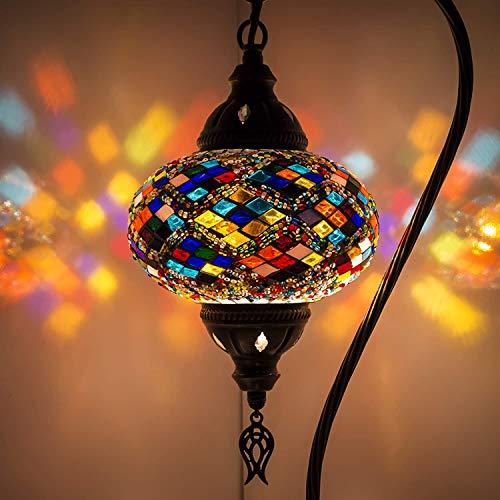 (5 variaciones) lámpara turca, lámpara de mesa de mosaico hecha a mano, pantalla de lámpara,...