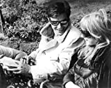 Marianne Faithfull and Alain Delon in The Girl on a Motorcycle cool on set in sunglasses 16x20 Poster