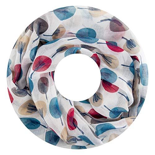 Fashion Max Loop - Bufanda para mujer, bufanda redonda, pañuelo, unicolor, bufanda