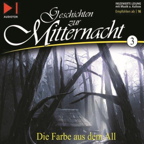 Die Farbe aus dem All     Geschichten zur Mitternacht 3              Autor:                                                                                                                                 H. P. Lovecraft                               Sprecher:                                                                                                                                 Ernst Meincke                      Spieldauer: 1 Std. und 42 Min.     110 Bewertungen     Gesamt 4,6
