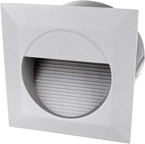 LED wandinbouwlamp IP65 230 V - gegoten aluminium - incl. Inbouwdoos - warmwit (3000 K)