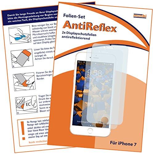 mumbi Schutzfolie kompatibel mit iPhone SE 2 2020 Folie, iPhone 7 Folie, iPhone 8 Folie matt, Bildschirmschutzfolie (2X)