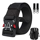 Tactical Belt for Men, Heavy Duty Men's Belt Military Tactical Belts with Molle Tactical Pouch & Tactical Hook