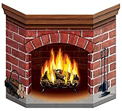 Inexpensive Cardboard Fireplace from Amazon