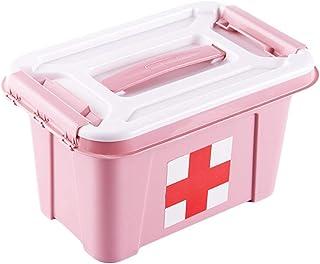 shengyuze Storage Holder Portable Plastic Home Medicine Case Health Care Pills First Aid Kit Storage Box(Pink)