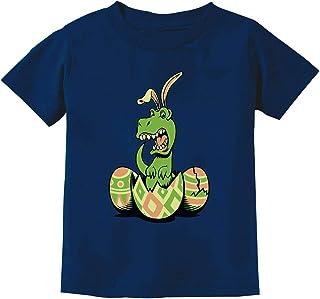 Tstars T-Rex Bunny Easter Egg Funny Gift for Easter Toddler/Infant Kids T-Shirt 4T Navy
