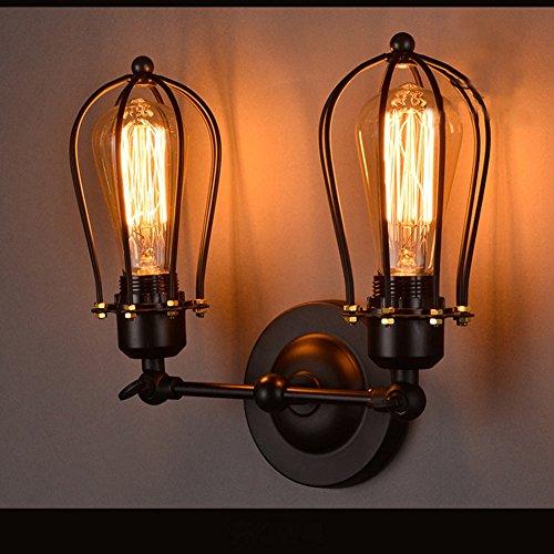VanMe Vintage Loft Matériel D'Éclairage Mural En Fer Forgé De Style Edison Wall Lamp Pour Café Chambre Campagne