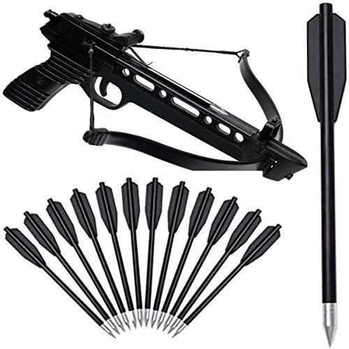 DZGN Mini Armbrustschrauben 6,5 Zoll Armbrustpfeile Aluminium Armbrustbolzen Pfeile für 50-80 lbs Pistolen Armbrust Präzisionsziel Praktikum Shooting Showing Kleine Jagdbogenschießen,36 Pack