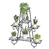 unho 7 Tier Plant Stands Indoor Metal Plant Shelf Stand Black Multilayer Potted...